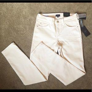 NYDJ Alina Legging Jeans Cream size 4 NWT Denim
